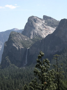 Bridalveil Falls and the Three Brothers