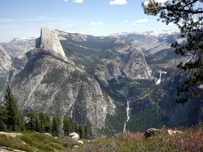 Half Dome, Vernal and Nevada Falls from Washburn Point