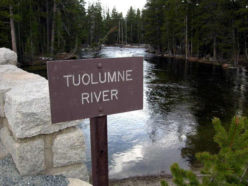 The Tuolumne River where it passes under 120