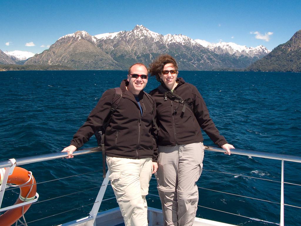 Dale & Mona on Lago Nahuel Huapi