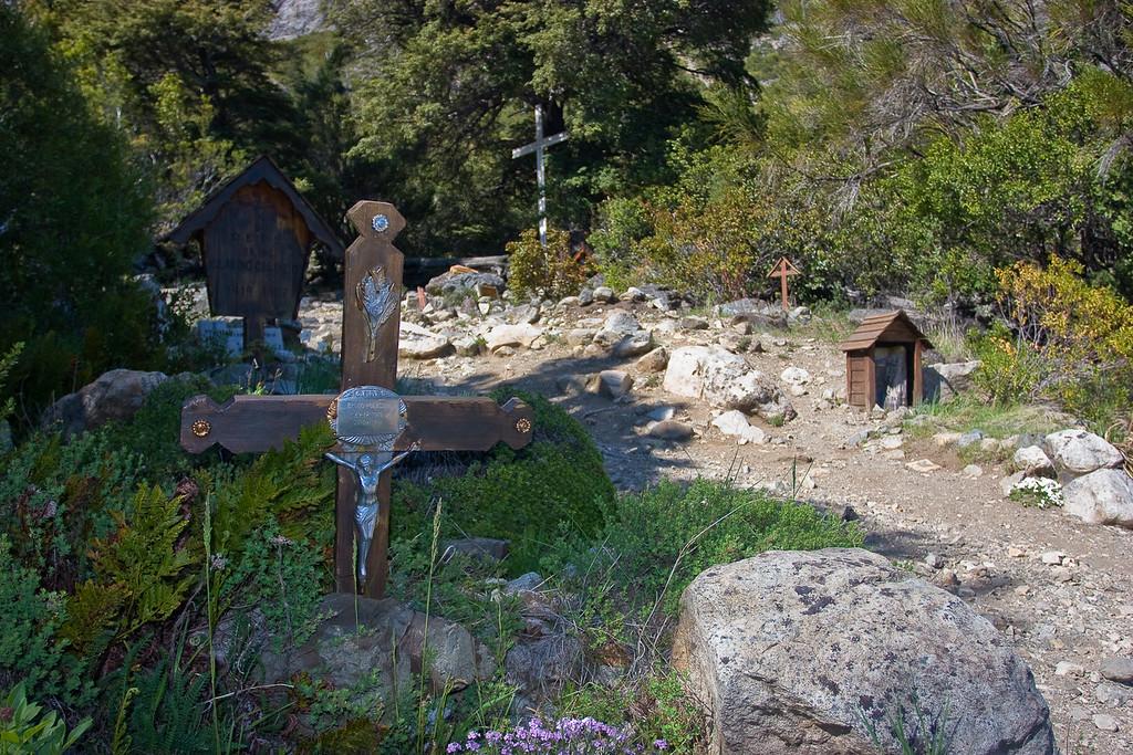 Climbers' cemetery near Bariloche, Argentina