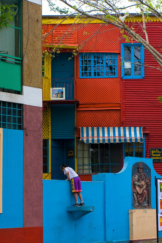 The vivid colors of La Boca neighborhood