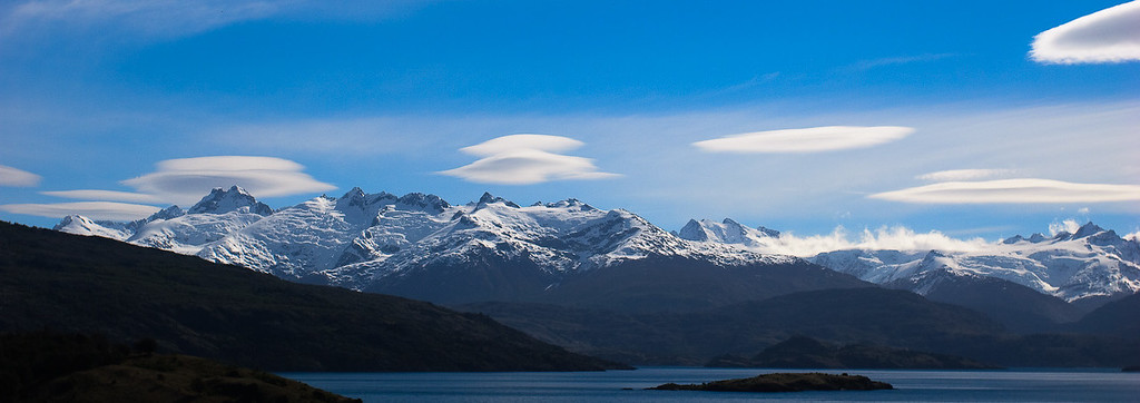 Lenticular clouds over the Chilean Ice Cap