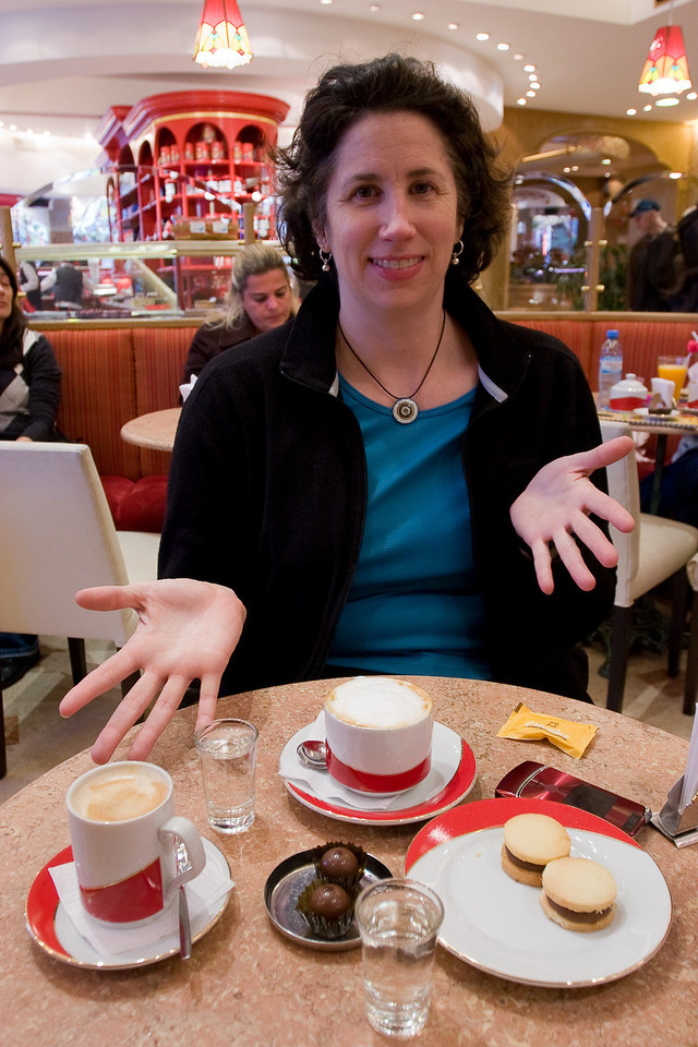 Coffee & Alfajores -- mmmmmmmm...