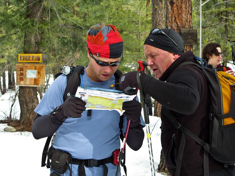 John Jackson and Chuck navigate