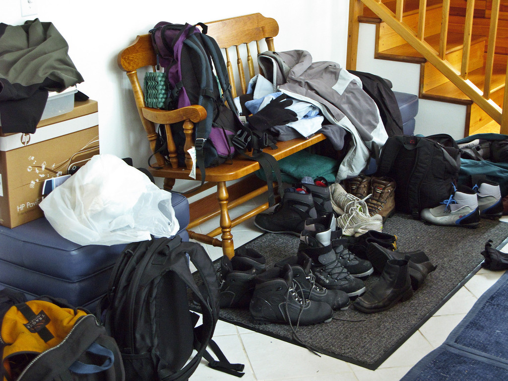 The gear pile...