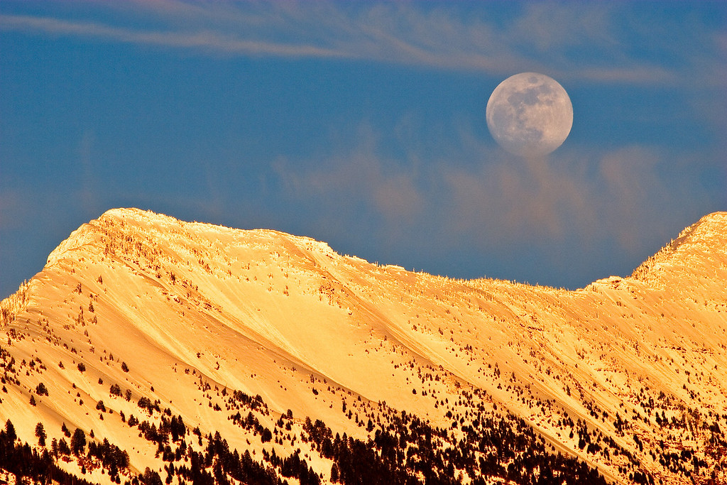 Moonrise over the Mission Mountains - Montana