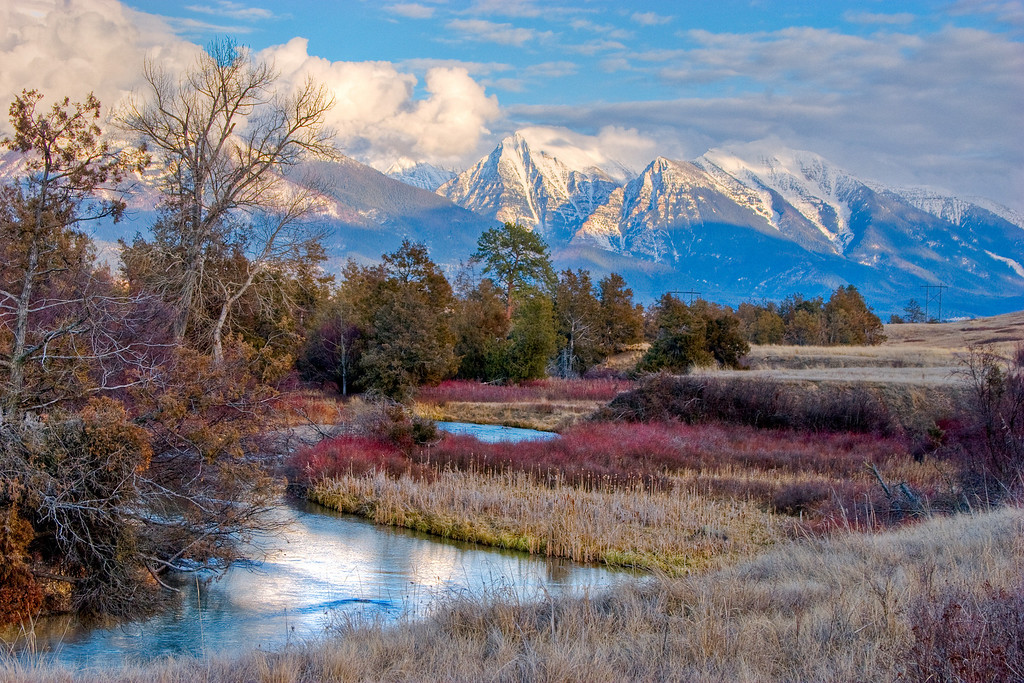 The Mission Mountains photographed from the National Bison Range - Montana