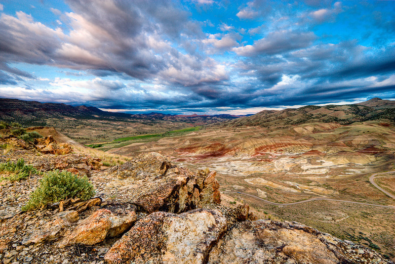 Sunset at the Painted Hills - John Day Fossil Beds, Oregon