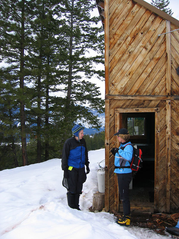 Checking Out the Ski Hut