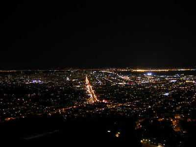 San Francisco at night from the twin peaks