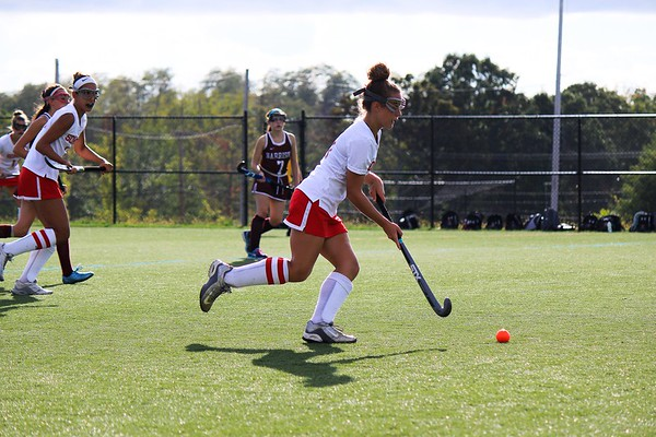 Rosalie Murphy moving the ball down the field