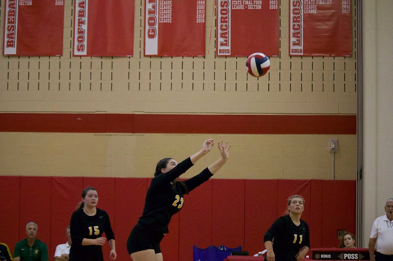 Lakeland setting the ball
