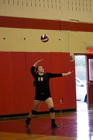 Lakeland serving the ball