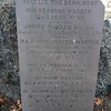Gravestone of the Warren family. Gen. Joseph Warren is listed third.