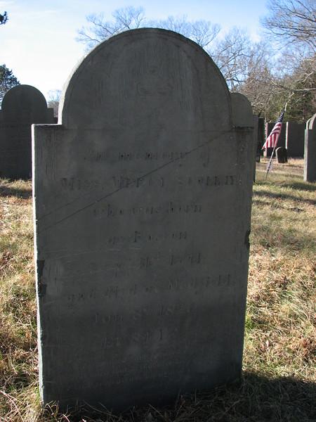 Gravestone of Mercy Scollay