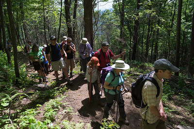 Hike today on Shumont Mountain with Friends of Chimney Rock-12