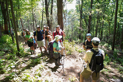 Hike today on Shumont Mountain with Friends of Chimney Rock-11