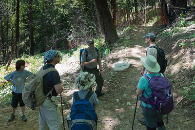 Hike today on Shumont Mountain with Friends of Chimney Rock-9