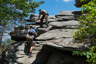 Hike today on Shumont Mountain with Friends of Chimney Rock-23