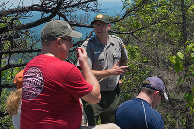 Hike today on Shumont Mountain with Friends of Chimney Rock-30