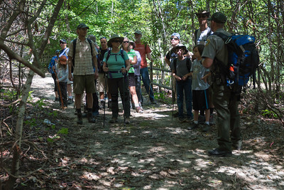 Hike today on Shumont Mountain with Friends of Chimney Rock-7