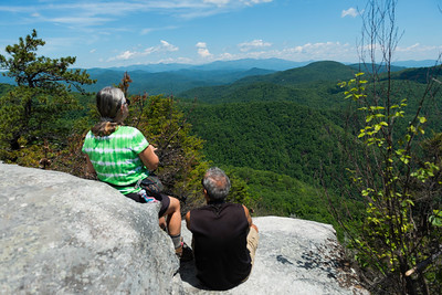 Hike today on Shumont Mountain with Friends of Chimney Rock-25
