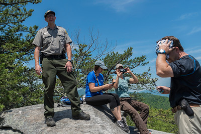 Hike today on Shumont Mountain with Friends of Chimney Rock-24