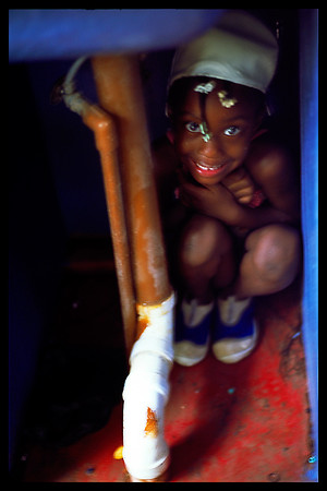 This was taken in Jamaica during a thunder storm that scared this little girl.