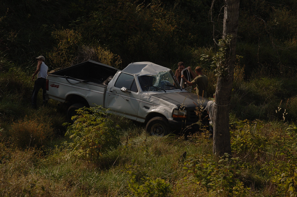 Truck accident as viewed from cabin #141