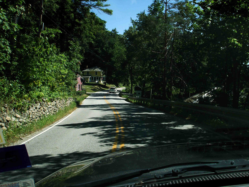 ON THROUGH VERMONT<br /> And here we go, on into the lush greenery that is the state of Vermont. Even though Maine is almost totally forested so thickly you can hardly see anything, Vermont's greenery is different somehow. I wonder what that is?