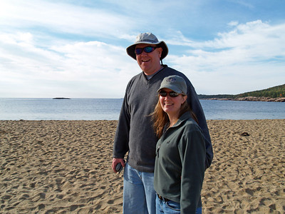 DAVID AND BARBARA ON SAND BEACH