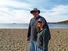 DAVID AND BARBARA ON SAND BEACH