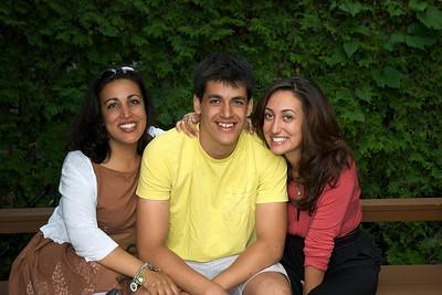 Natasha Javanmardi with Sutherland and Amelia