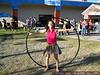 The Vitruvian Woman. (The hula hoop is 5 ft in diameter.)