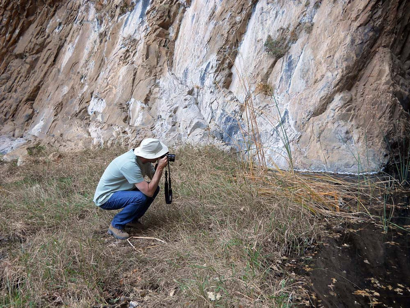 DALE TAKING A SHOT<br /> The photographer in action.