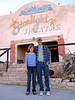 AT THE STARLIGHT<br /> Lani and Dale in front of one of the areas main attractions, the Starlight Theatre. It was named that back in the mining days, as it had no roof. It does now, but they still kept the name.