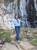 TA DA!!! WE'RE HERE!<br /> Lani striking a pose at our destination, Cattail Falls.