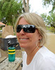 LOVE THOSE GLASSES<br /> A closeup shot of Mev's outrageous sunglasses. Look! You can see me.