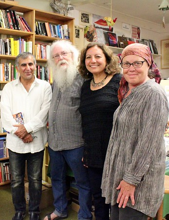 16.09.02 Palestinan poet Zeina Azzam and Iraqi poet  Kifah Abdullah at Gulf of Maine Bookstore