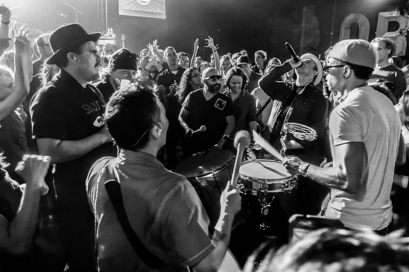 L.A. band Ozomatli plays Asheville's Orange Peel. Fantastic show if you've never seen them. They always end by going out in the audience.