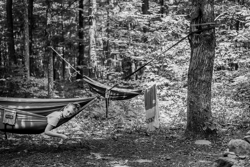 Lazy afternoon camping in Virginia.