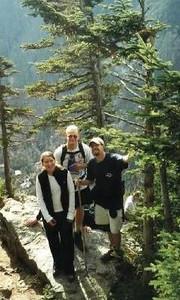 Lisa, me and Eric hiking Carter Notch