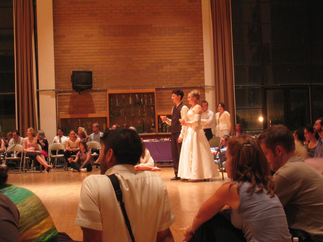 14 - Neil & Michelle receiving Daddy Harmon & Lockett's toasts