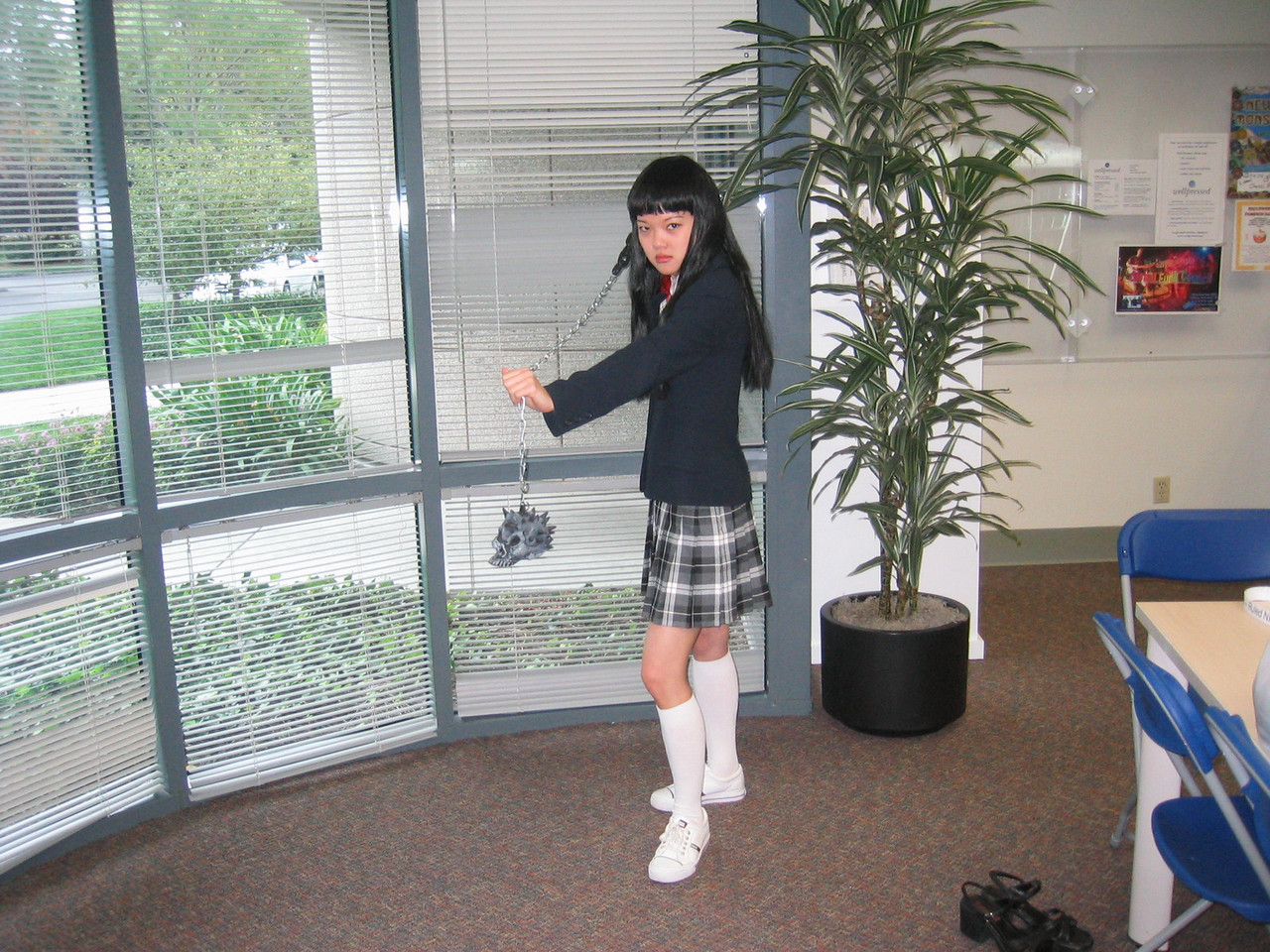 2004 10 29 Friday - Joann Chu as the Kill Bill girl 2