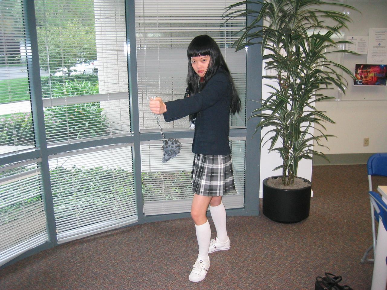 2004 10 29 Friday - Joann Chu as the Kill Bill girl 1
