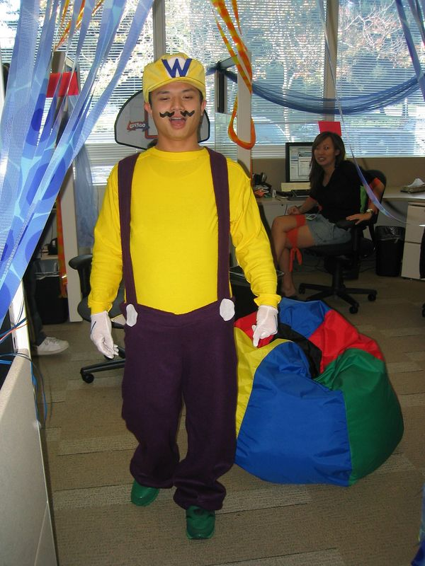 2004 10 29 Friday - Ray's Wario costume