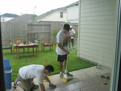 July 16, 2005 - Tiling Ops at the Chin Palace