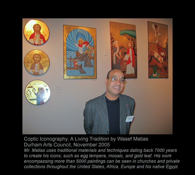 Matias Wasef with some of his paintings [borders, extended text]