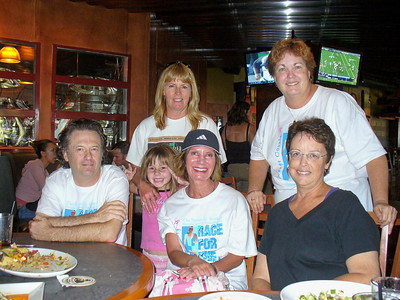 Tom Campbell, Michaela and Colleen, Kellie, Mary Pat, and Joan at the lunch at the Yard House